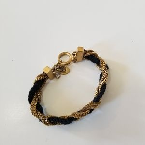 Juicy Couture Women Braided Gold Bracelet